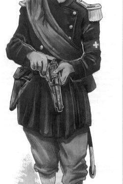 Luzerner Infanteriehauptmann im Felde 1866